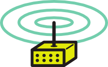 Wi-Fi router with omnidirectional antenna