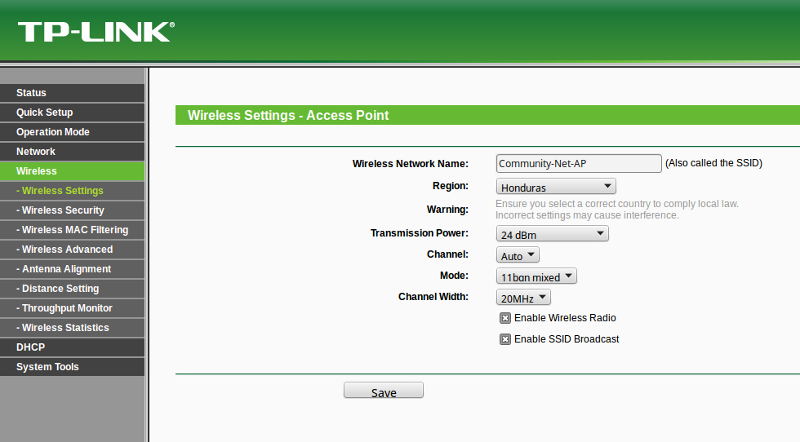Access Point Setup