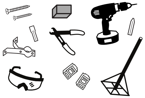 Line art of miscellaneous tools